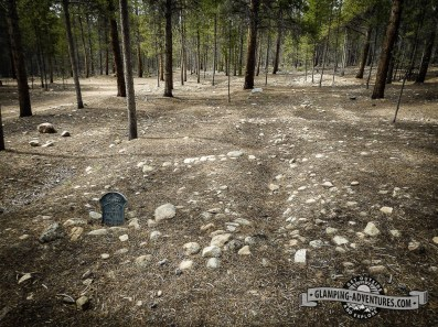 The indentations are from graves that have fallen in. Evergreen Cemetery, Leadville, CO