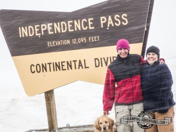 We made it to the top! Independence Pass