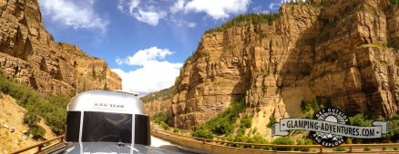 Airstream in the canyon.