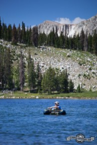 Fly fishing on Libby Lake.