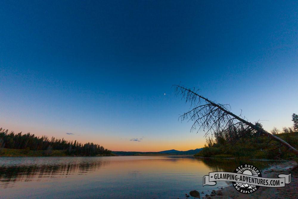Sunset on the lake. Steamboat Lake, CO.