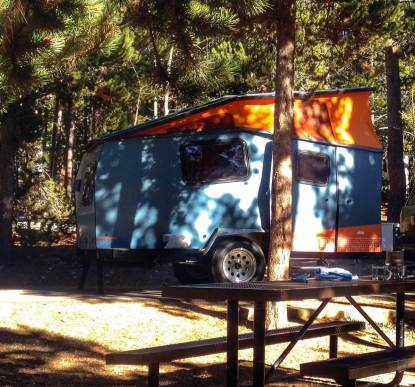 Our neighbors had a cool Cricket Camper. Golden Gate Canyon S.P.