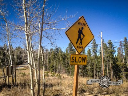 I think the sign is referring to me—a slow hiker! Mule Deer Trail. Golden Gate Canyon S.P.