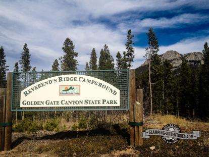 Entrance to the park. Golden Gate Canyon S.P.