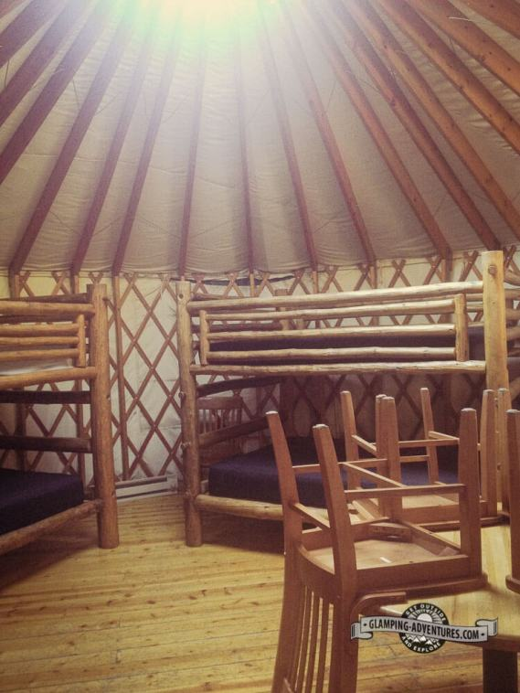 Inside a yurt rental at Reverends Ridge. Golden Gate Canyon S.P.