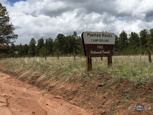 Entrance to Paint Rock Campground.