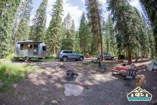Camp set up. Gore Creek CG, Vail CO.