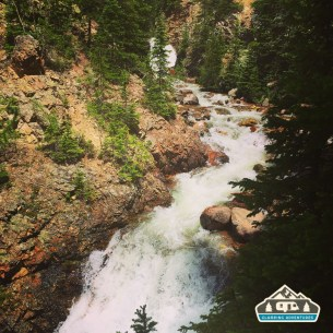 Raging Boot Falls. Booth Falls, Vail CO.