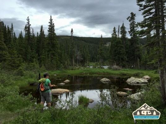 Small pond along Longs Lake Trail.