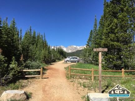 Path from CG to Brainard Lake, CO.