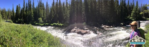 S. St. Vrain behind the campsite.