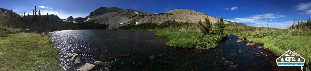 Creek exiting Mitchell Lake.