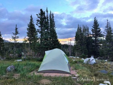 Full campsite at Sugerloaf Campground, WY.