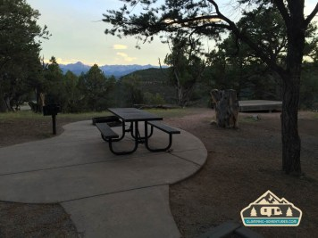 Nice patios to enjoy your trip. Ridgway S.P.