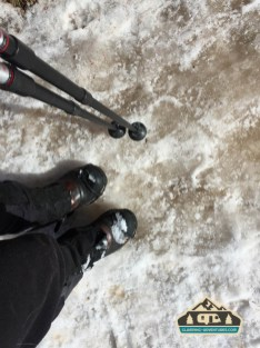 Crampons are a must in the winter! Horsethief Trail. Divide, CO.