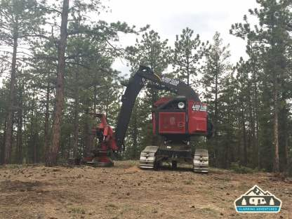 Tree cutting machine. Westcreek Rd., CO.