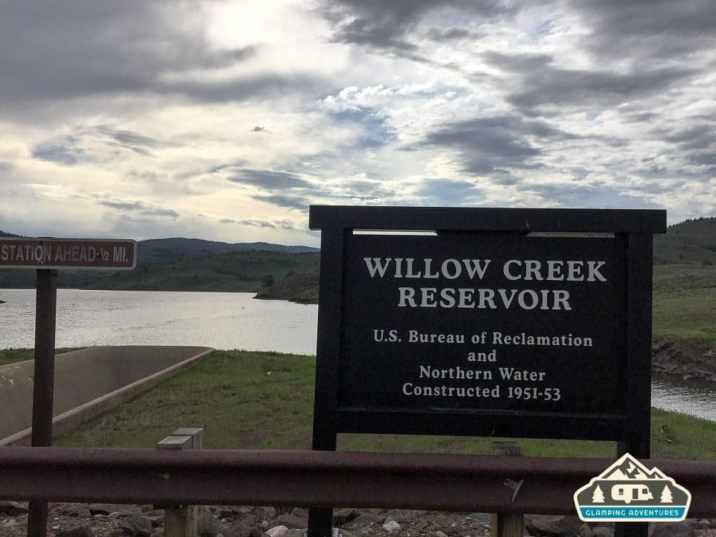 Willow Creek Reservoir. Willow Creek C.G, CO.