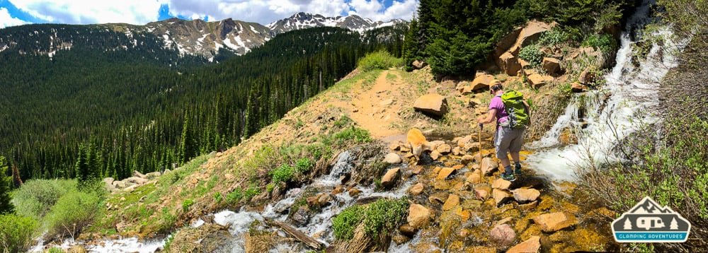 A couple of the waterfall crossings. Midland Trail. Hagerman Pass Rd. Leadville, CO.