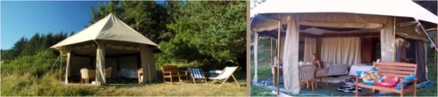 Tente safari au glamping Tam Tam Lodge à Salvezines Languedoc-Roussillon