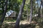 Tente bulle dans les arbres au glamping Dihan à Ploemel en Bretagne