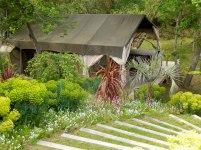 Lodge dans la foret au glamping Bô Zen Lodge à Biarritz en Aquitaine