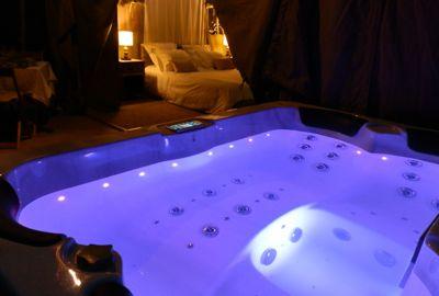 Spa chromothérapie au glamping Bô Zen Lodge à Biarritz en Aquitaine