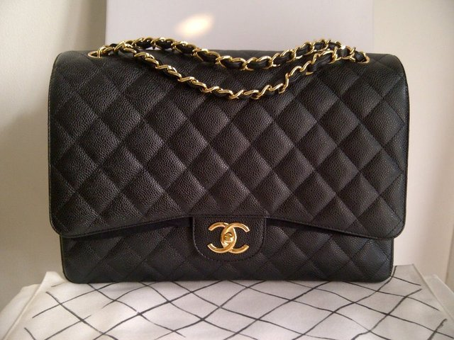 Chanel Maxi Bag in Caviar Leather