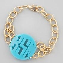 Moon and Lola Isobel Monogrammed Acrylic Bracelet $93