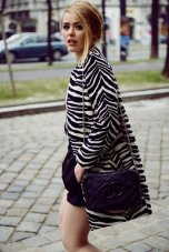 Zebra Pattern Jacquard Coat