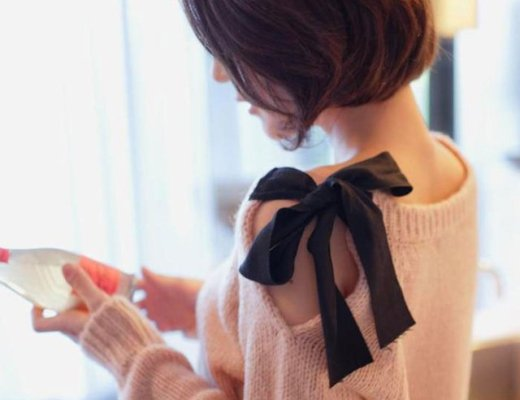 Bow Shoulder Sweater