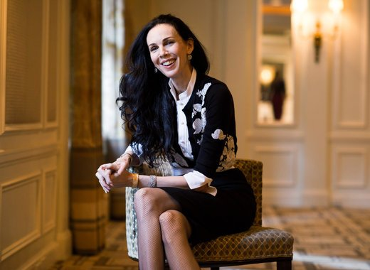 L'Wren Scott in her Paris apartment