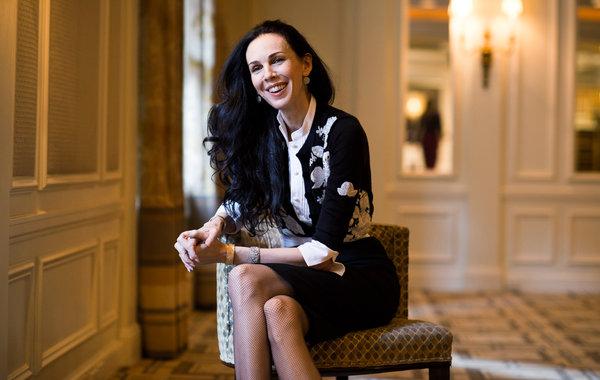 L'Wren Scott in her Paris apartment