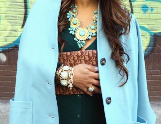 Zad Turquoise Bib Necklace