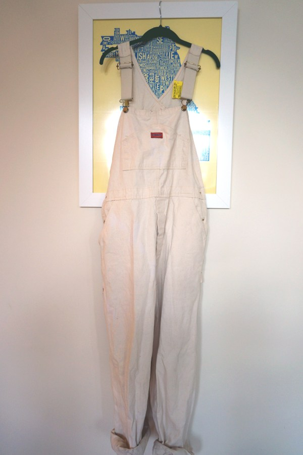 DIY Distressed Boyfriend Overalls