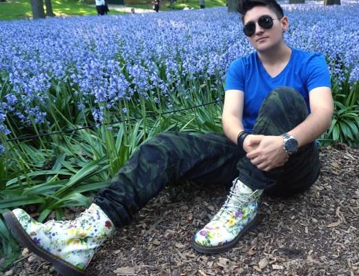 Dr. Marten White Floral Boots