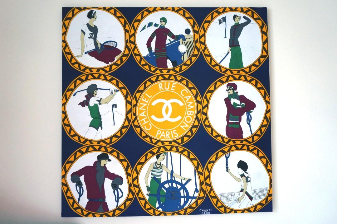 DIY Chanel Silk Canvas Art