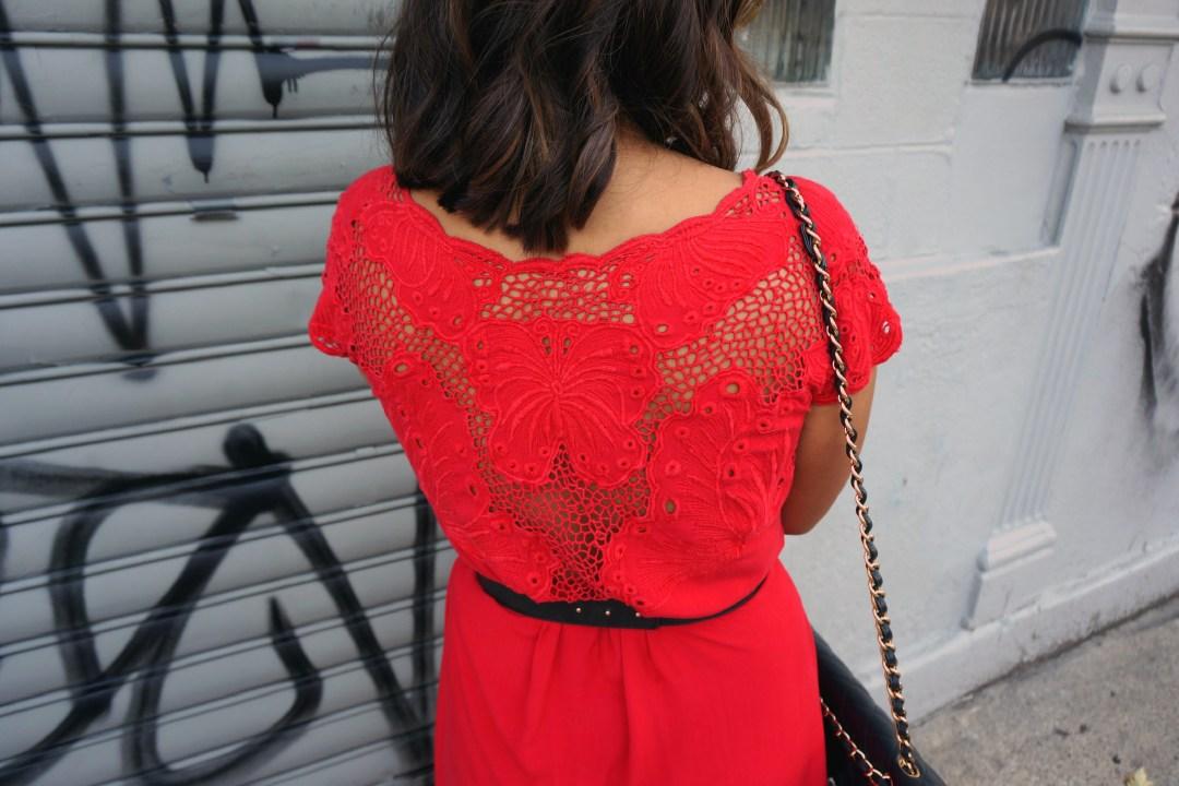 Vintage Crochet Butterfly Dress