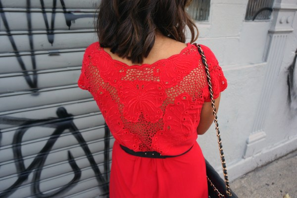 Vintage Crochet Butterfly Dress