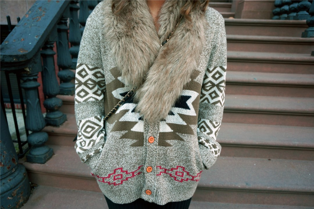 Koto Patterned Shawl Cardigan