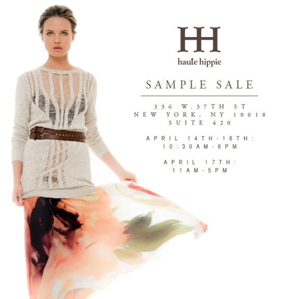 Haute Hippie Sample Sale
