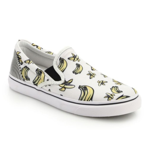 Sophia Webster Adele Banana-Print Canvas Sneakers