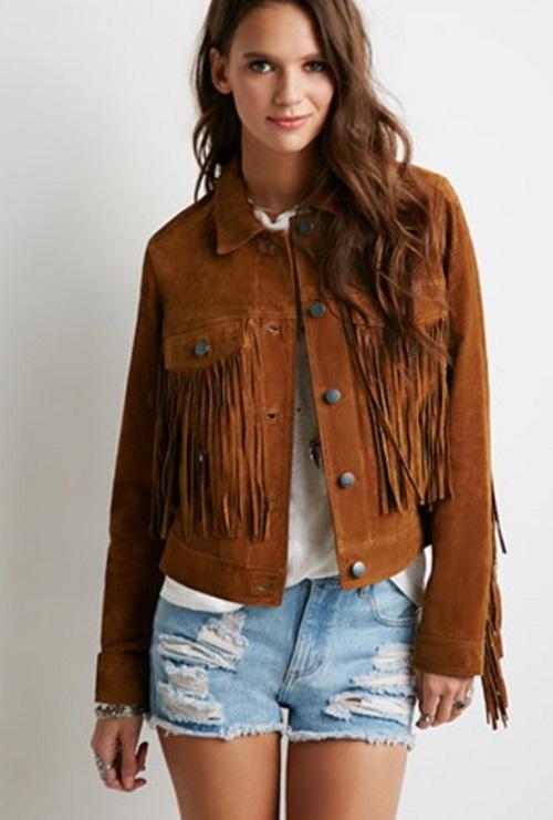 forever 21 suede fringe jacket