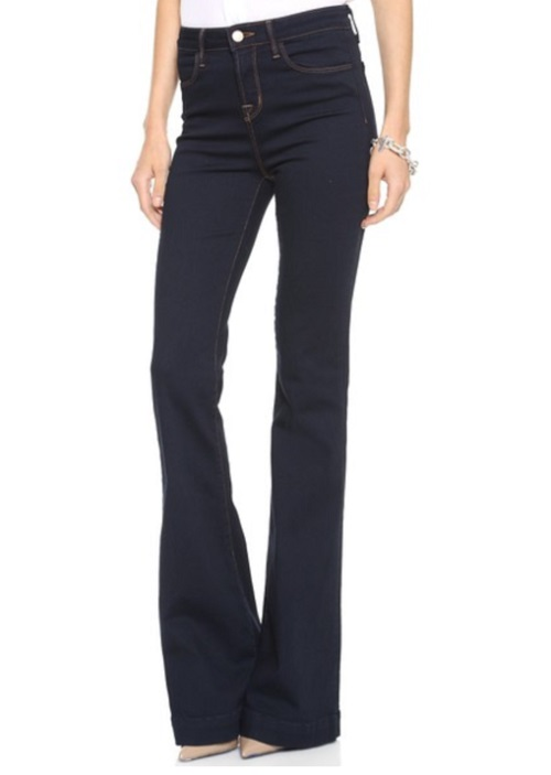 j brand the doll high rise flare jeans