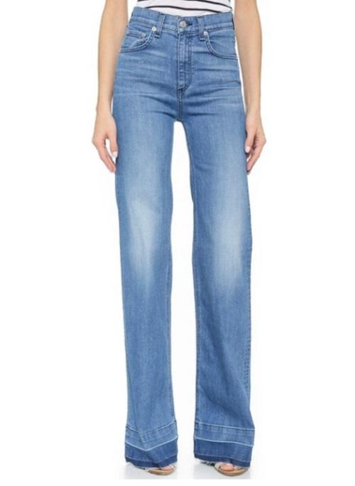 rag and bone justine wide leg jeans
