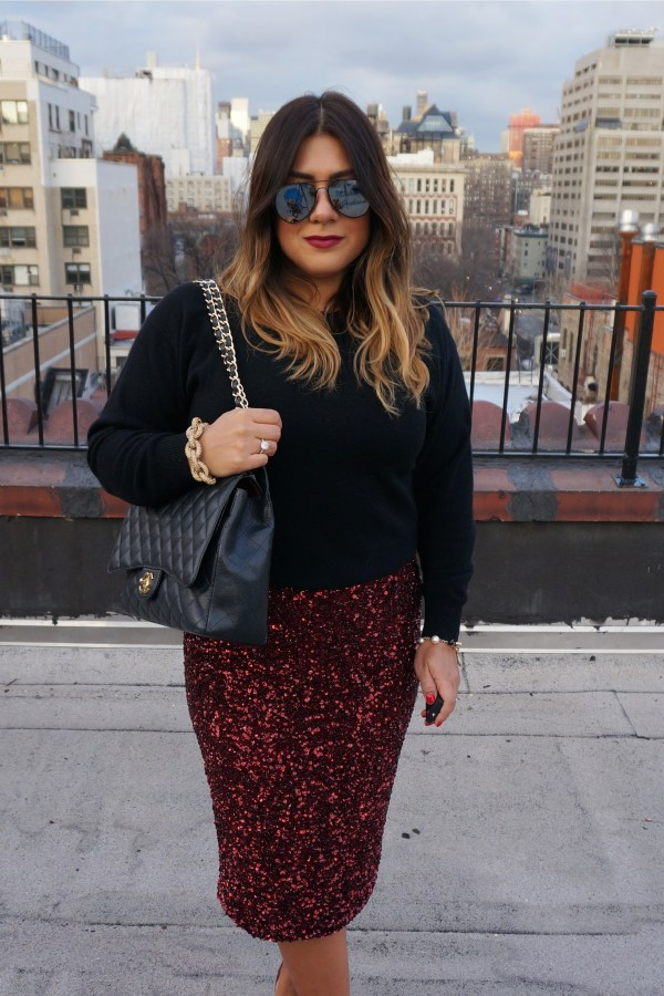 Parker Sequin Midi Skirt