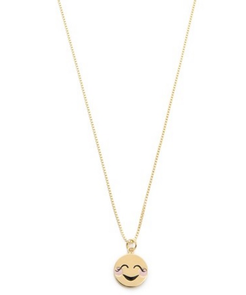 Kate Spade New York Blushing Emoji Pendant Necklace