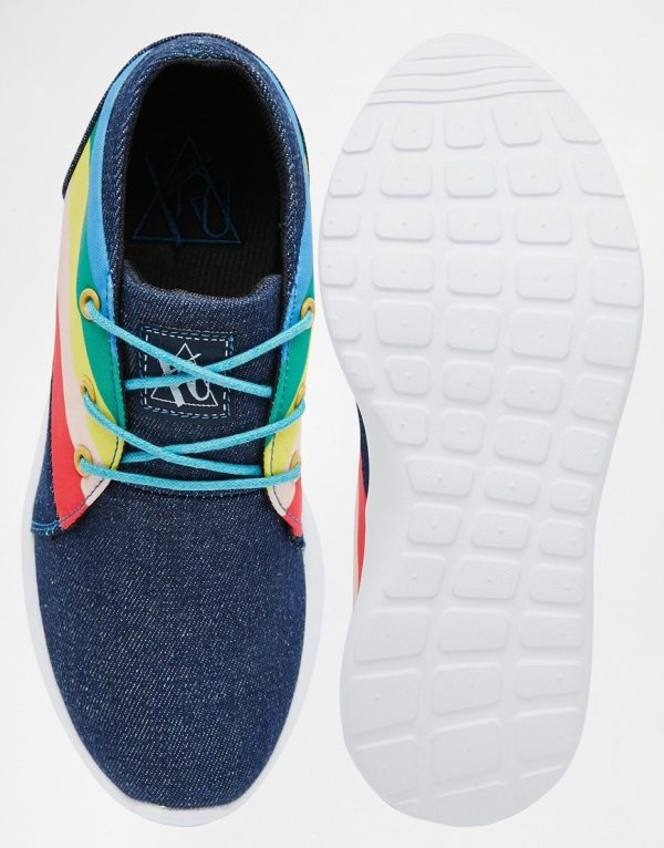 YRU Beam High Rainbow Sneakers