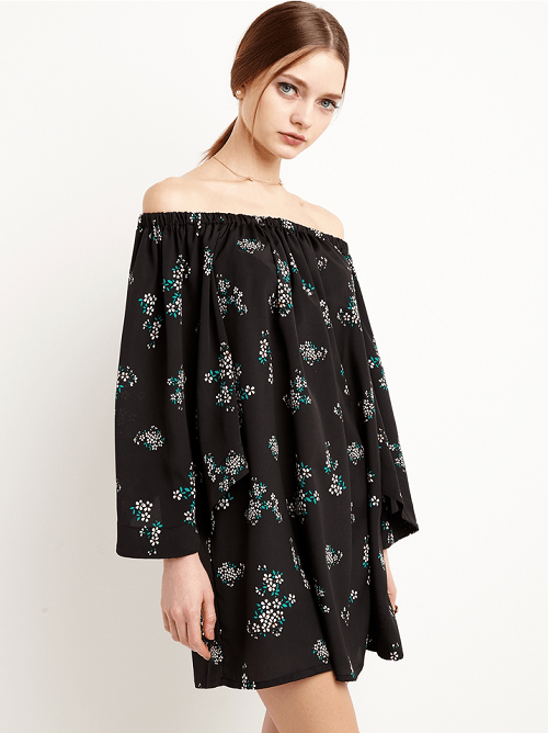 Pixie Market Floral Off The Shoulder Dress