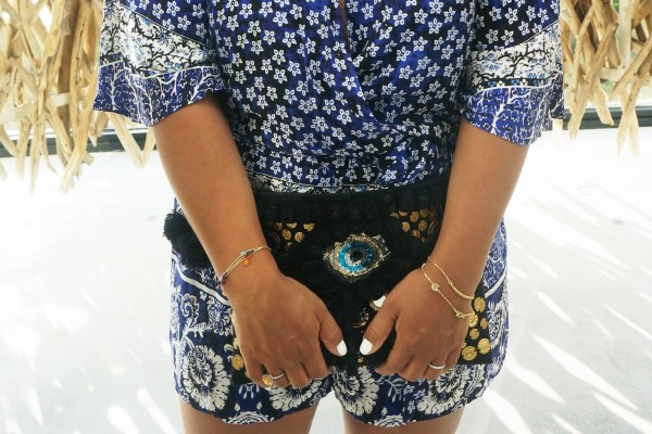 Figue Evil Eye Clutch