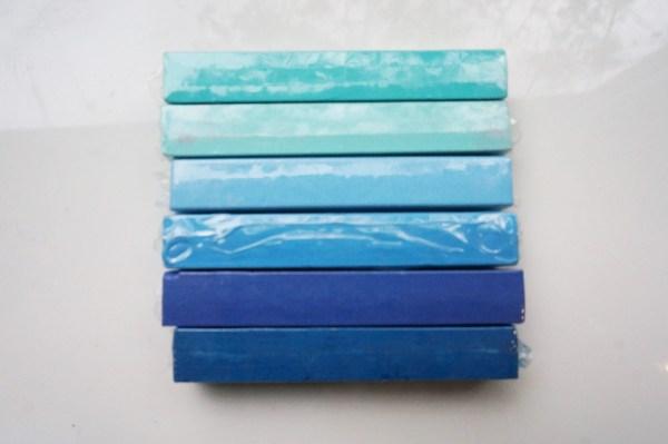 SEAFOAM Blue Ombre Mermaid Hair Chalk